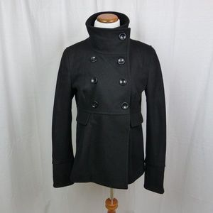 Old Navy Wool Blend Black Pea Coat